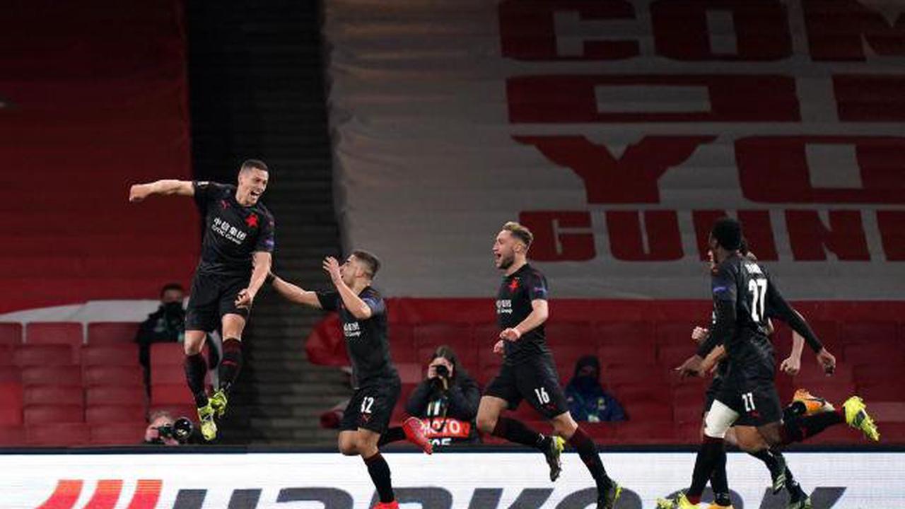 Late Slavia Prague leveller leaves Arsenal's Europa League fate in the balance