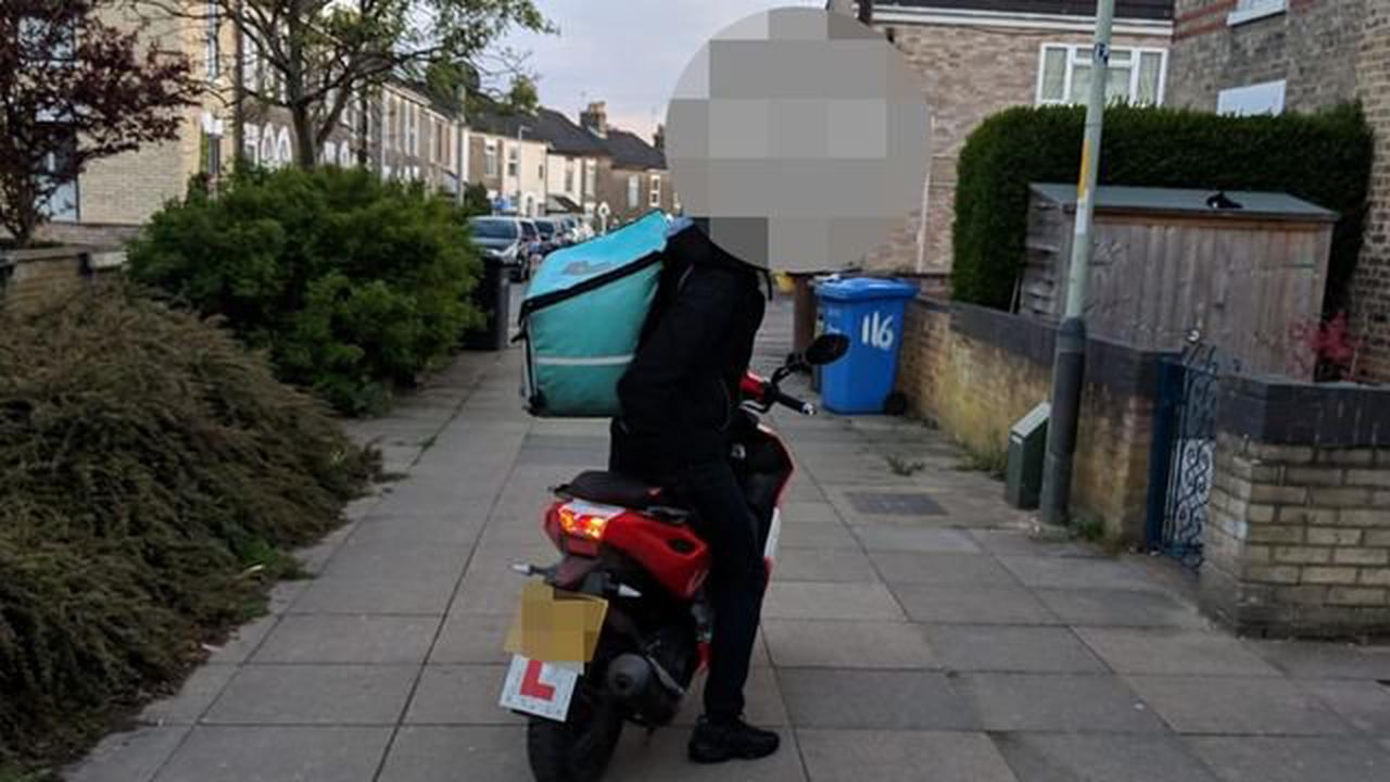Residents' anger at Deliveroo motorcycle drivers using pavement shortcut