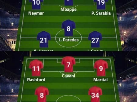 PSG Vs Manchester United Possible Line-up In The UEFA Champions League On Tuesday