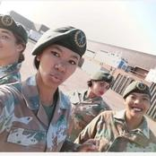 SANDF has gorgeous women who wears their Military uniform with pride, Here is their adorable picture