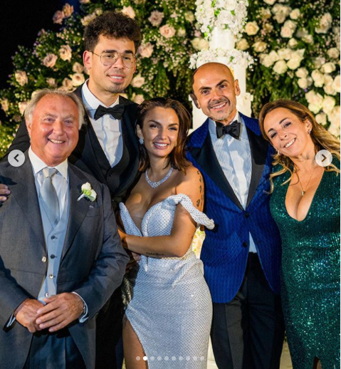 Heiress Elettra Lamborghini stuns in a sheer lace mermaid gown as she marries Dutch DJ Afrojack at a lavish villa in Italy (photos)