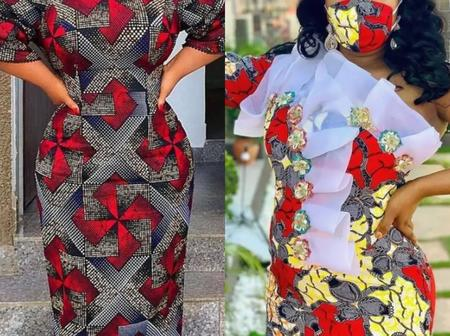 Check Out These Excellent Gown Designs Made From Ankara Plain And Patterns For Ladies