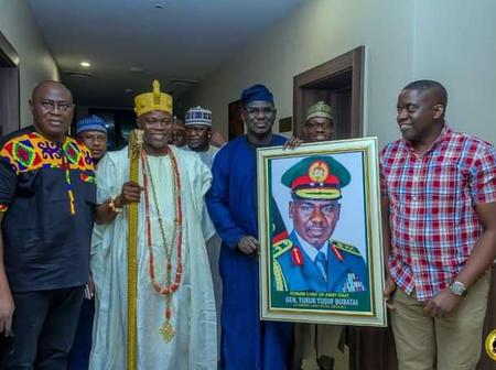 PHOTOS of Lt. Gen TY Buratai Without Uniform As He Visits Popular Yoruba Kings Today