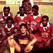 Football / Côte d'Ivoire : Diego Maradona à Abidjan en 1981 face au Stade d'Abidjan