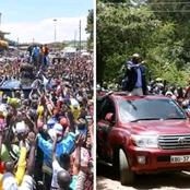 Comparison Between Gideon Moi And DP Ruto Convoys Today