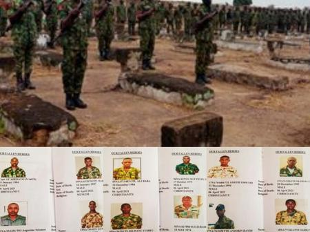 Tears As Military Bury 12 Soldiers Killed In Benue. See Their Photos & Other Details