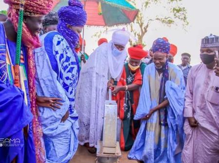 7 Photos: Emir of Bichi, Alhaji Aminu Ado Bayero Constructs New Mosque and Borehole in Bagwai, Kano