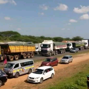 Panic as Residents Barricade The Mombasa Nairobi Highway After a deadly accident
