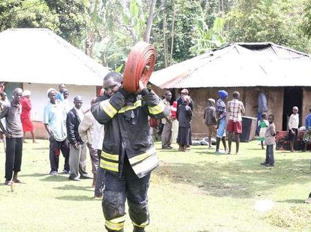 4-Month-Old Baby Escapes Death By A Whisker After a Fire Outbreak At Vihiga County