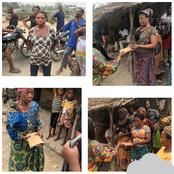 Villagers in Uyo Rejoices as Ehi Disbursed N2.7 Million Naira Raised by her Fans to Them