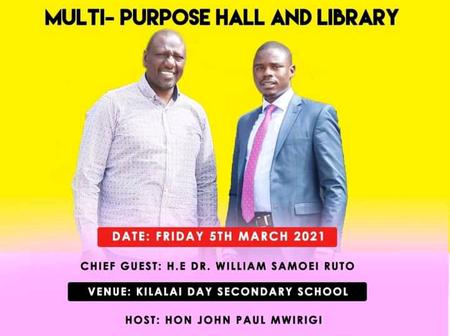 Dp Ruto's Next Big Project At Igembe South Constituency
