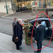 Moment white man opened the car door for Ngozi Okonjo as she steps out on her first day as WTO boss
