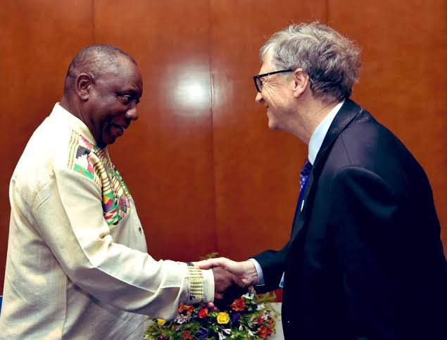 Bill Gates confirms vaccine talks with Cyril Ramaphosa-operanewsapp