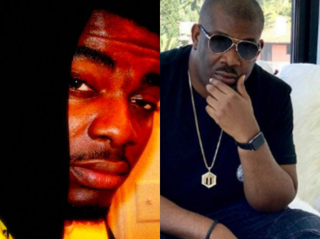 Nigerian music star, Kelly Hansome under serious attack for insulting Don Jazzy.