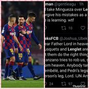 """He Shouldn't Play For Barca Again, He Absolutely Knows Nothing""- Barca Fans Blast Player After Loss"