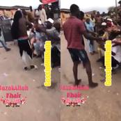 Residents Distribute Looted COVID-19 Palliatives To Beggars On The Streets (photos)