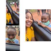 Reactions As Erica Met A Little Fan Of Hers Called Peace At A Movie Set