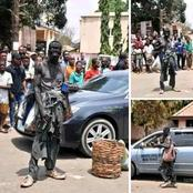 Young Man Dresses Like A Mad Man, Roams The Street And Begs Money To Observe Rag Day In University