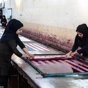 Inside Iranian Factory Where U.S. And U.K. Flags Are Made For Burning. See Pictures