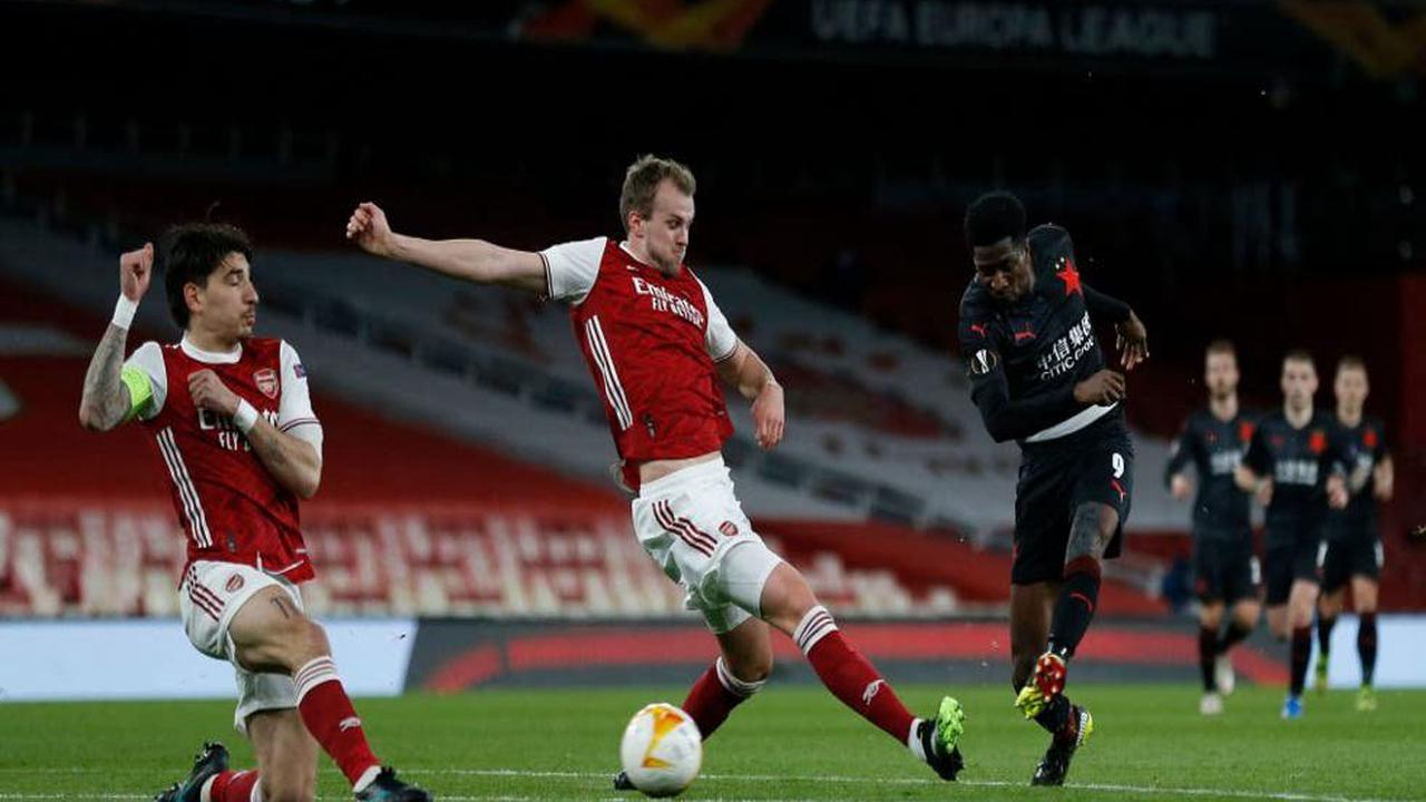 Player ratings as wasteful Arsenal frustrated by late Slavia Prague equaliser