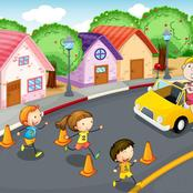 While driving be carefully of kids on the road
