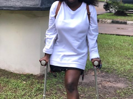 """She was not born like this""- Read the touching story of the Nollywood Actress with one Leg"