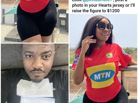 See What Serwaa Amihere Sent To John Dumelo Online, Fans Suspect An Attraction Between The Two