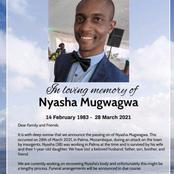 Nyasha Mugwagwa was killed in Palma in Mozambique
