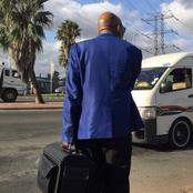 Rare picture of Jacob Zuma at the taxi rank.