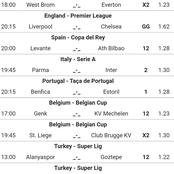 Thursday's Correct Score(CS) Fixed Multi bets With 2.5 Goals And Both Teams To Score