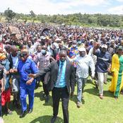 Tight Security Detail as DP William Ruto Makes his Way Though a Mammoth Crowd on Wednesday