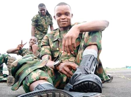See reactions to photos as a boy of 20 years joined the Nigerian Air Force
