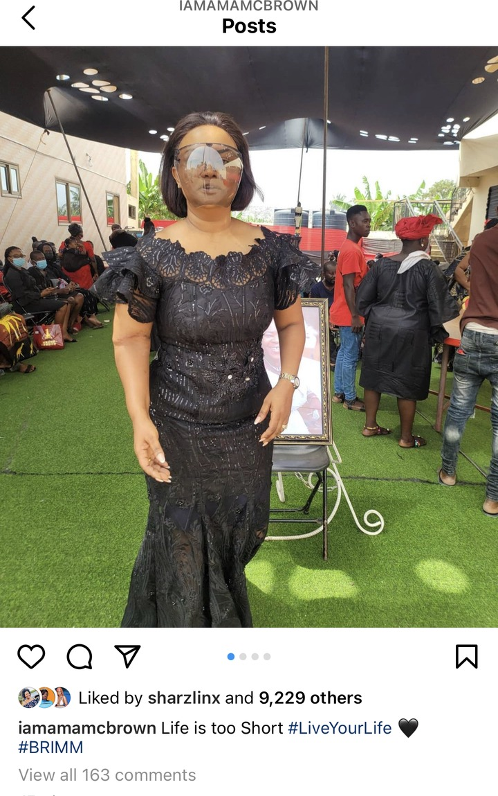 a46e330c44ff4a61b43301544365f2bf?quality=uhq&resize=720 - Life Is Too Short, Live Your Life - Nana Ama Mcbrown Speaks As She Sadly Mourns A Love One