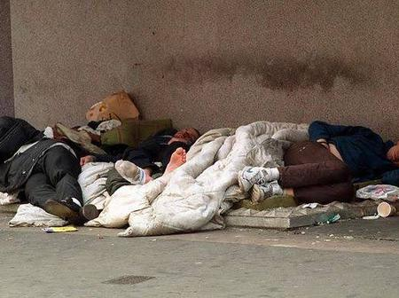 A number of homeless people left in the streets during Lockdown