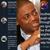Reactions As FFK Sends Strong Warning To Southerners Mocking The North Over This, Read What He Said