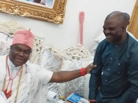 PHOTOS:- Fuji Star, Akande Obesere Pays Courtesy Visit To Ooni Of Ife