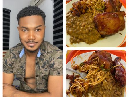 See the food that I was eating in a restaurant and people were looking at me anyhow - Man