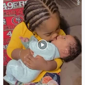 Video: See What This Little Girl Tried To Do To Her Hungry Little Brother That Got Her Mum Laughing