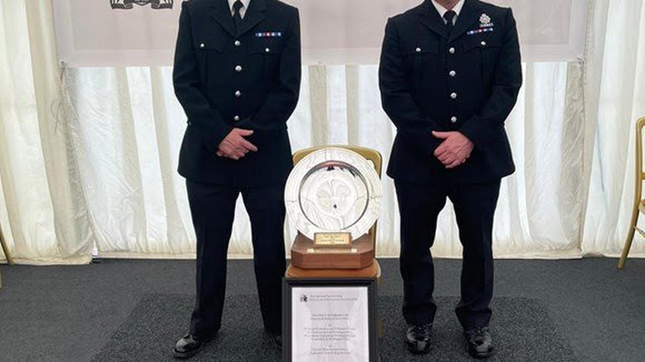 Greater Manchester Police's Tactical Dog Unit have received the National Service Dog Bravery and Achievement Award for their work during the Manchester Arena bombing