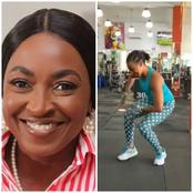Kate Henshaw Shows Off Her Dance Steps At The Gym