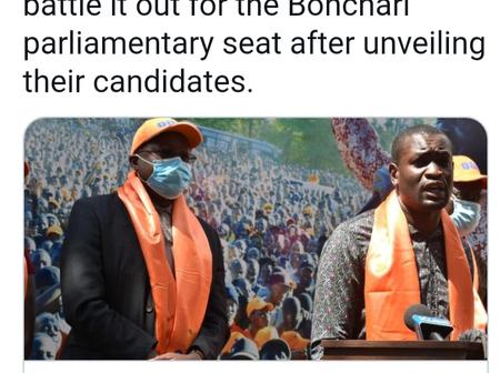 ODM, Jubilee and UDA to Go Head-to-Head In Bonchari After Unveiling Candidates
