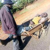 Netizens React to Hilarious Photos of Drunkards Ferrying Themselves on a Wheelbarrow