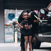 Sarkodie's Daughter Titi Grew Up Beautifully, Check Out Photos Of Her Going Shopping With Her Daddy.