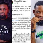 AKSU Student Who Attempted Suicide After Being Suspended Indefinitely Sends Openly Letter To The VC
