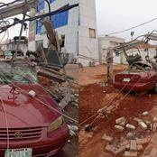 Avoid Parking Your Cars Beside Electric Pole, See What Happened To This Car