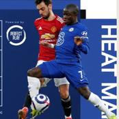 Kante's Heat Signature Against Manchester United, Shows How He Kept Bruno Fernandes Quiet