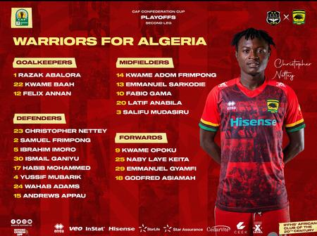 Coach Johnson Smith announces his traveling squad for the Es Setif game at Algerian.