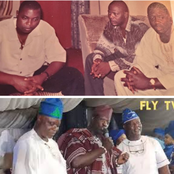 Nollywood actors show respect as 3 veteran actors share throwback photo of themselves being together