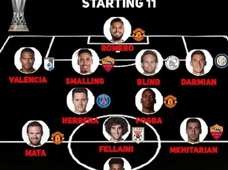 The Starting XI That Won Manchester United's Last Trophy In 2017