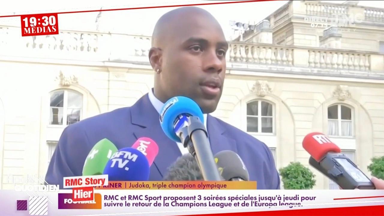 Les téléspectateurs de Quotidien s'enflamment pour Teddy Riner qui remet à sa place Emmanuel Macron lors d'une grande cérémonie à l'Élysée